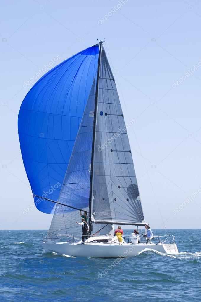 Sailboat on competition