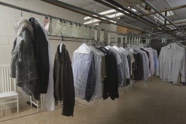 Clothes in laundrette