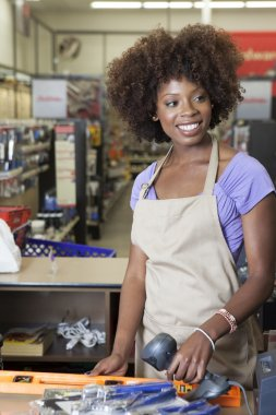Store clerk in supermarket