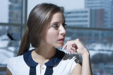 Businesswoman looking off camera