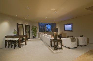 White entertainment suite