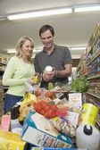 Fotografia Coppie mature in supermercato
