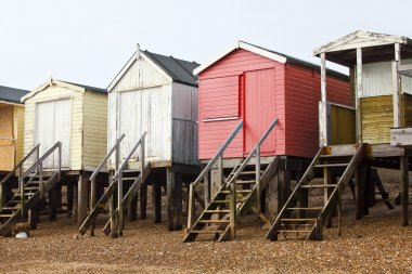 wooden Beach huts