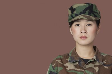 Beautiful young Marine Corps soldier