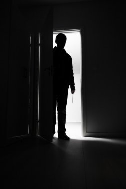 Burglar entering into house