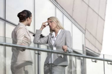 Businesswoman arguing with female colleague
