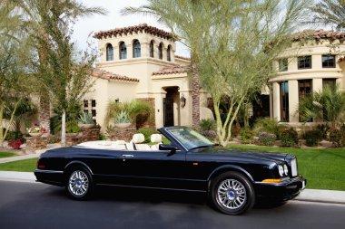 Luxurious convertible car