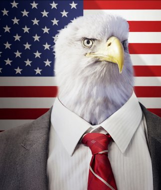 Eagle head businessman
