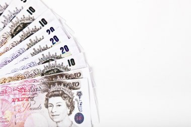 Group of pound notes