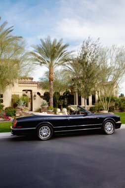 Luxurious open roof car