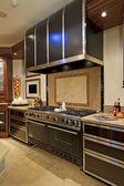 Fotografia acciaio inox Stufa fornello in cucina