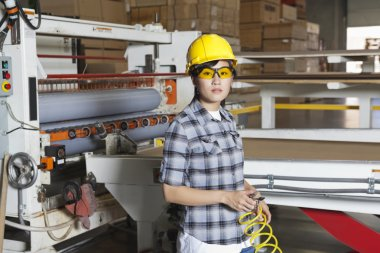 Asian female industrial worker