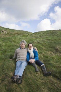 Couple in non urban scenery
