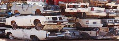 old cars on dump
