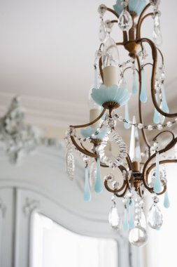 metal-worked chandelier
