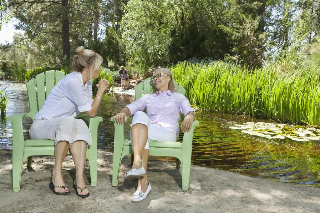 Mature woman and mother relaxing
