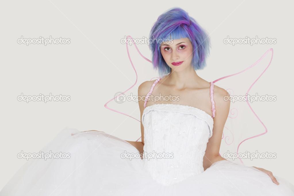 Imagen de mujer vestida de angel