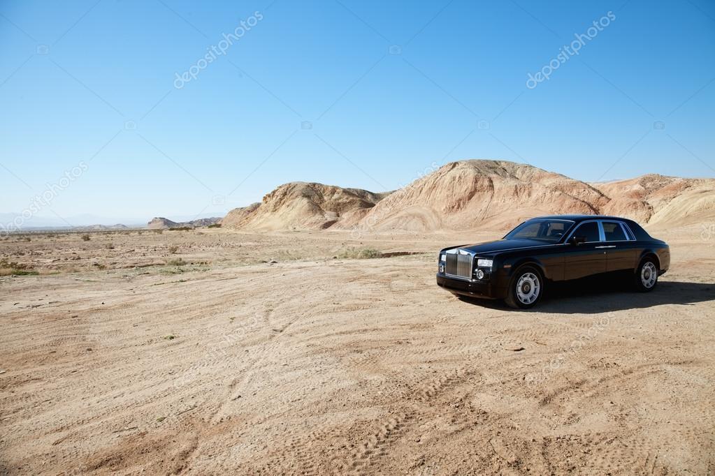 Rolls Royce car parked