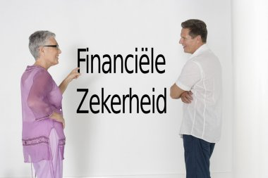 Couple discussing financial security
