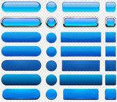 Blue high-detailed modern web buttons.