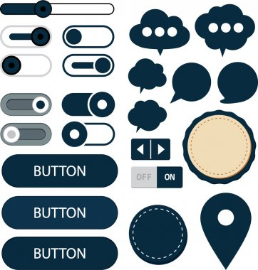 Flat web design elements.