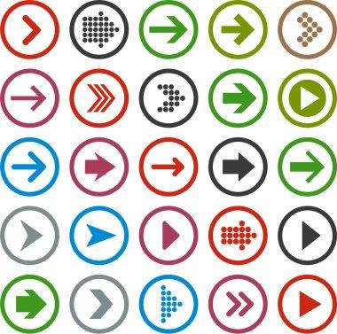 Vector illustration of plain round arrow icons. Eps10. stock vector