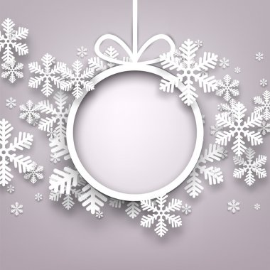 Christmas background with round copyspace.