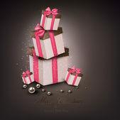 Fotografia scatole regalo di Natale