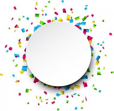 Colorful celebration background with confetti. Vector Illustration. clip art vector