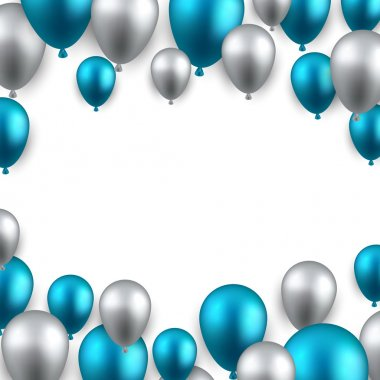 frame background with balloons.