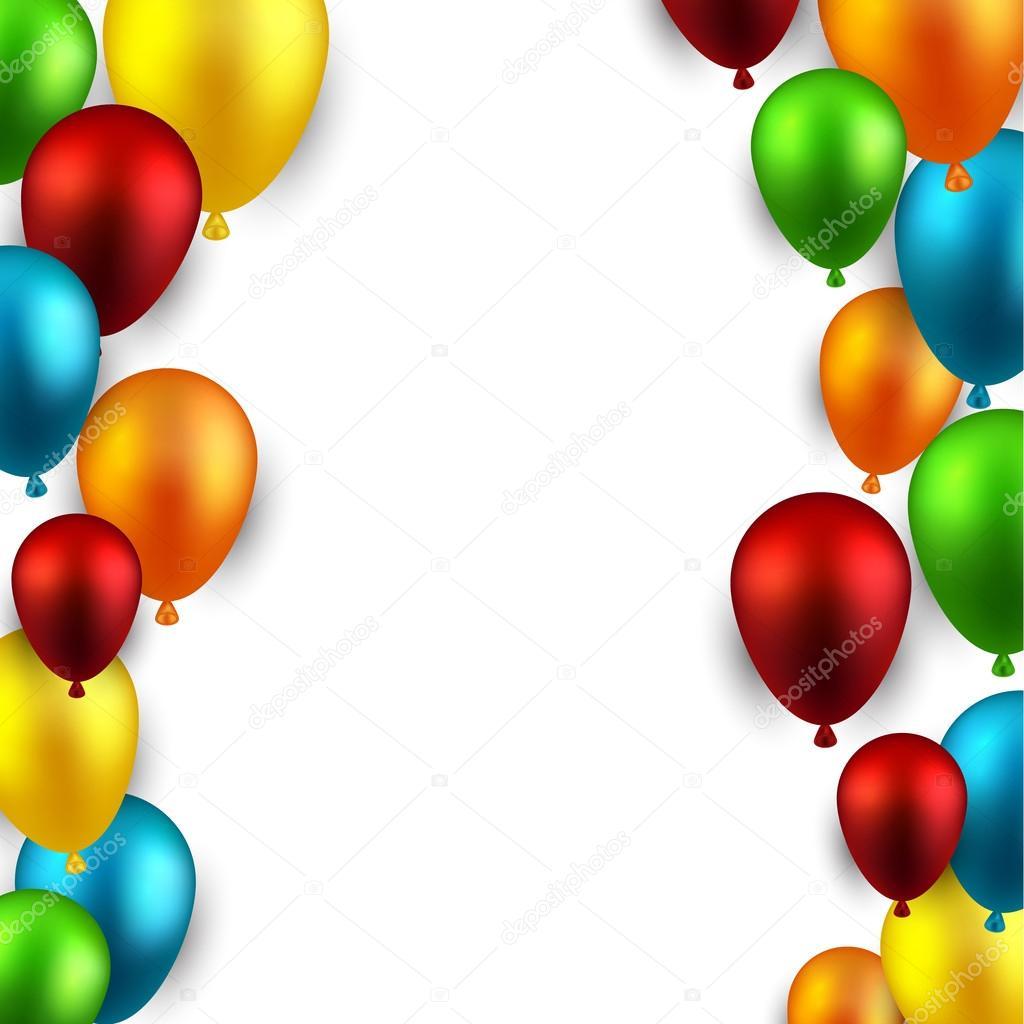 Sfondo di telaio con palloncini vettoriali stock - Immagine con palloncini ...