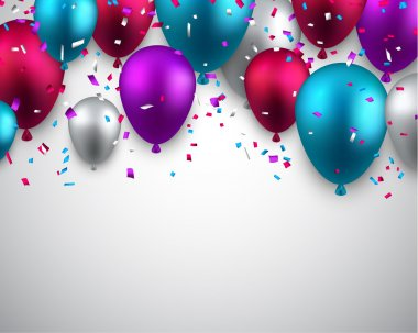 Celebrate background with balloons.