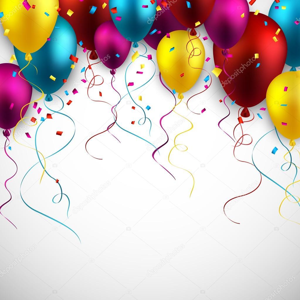 Celebrar con globos de colores de fondo– ilustración de stock bae1c0a18a1