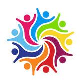 Boldog csapat 9 Logo-vektoros