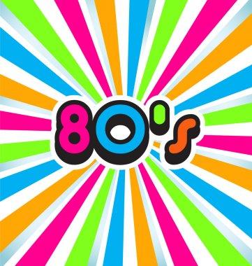 80s pop art background