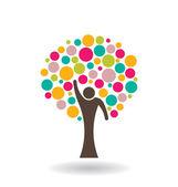 emberek kör fa logó