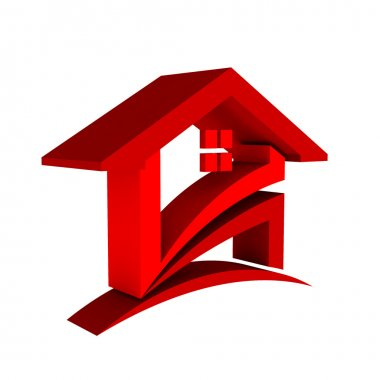 3D Red House Logo