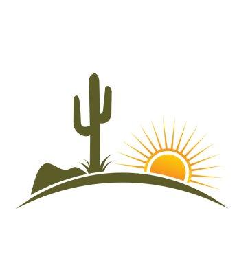 Logo Desert design elements with sun