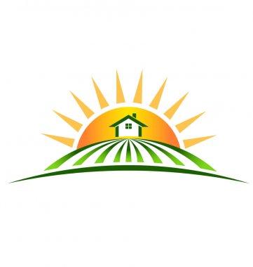 Logo Farm House with sun