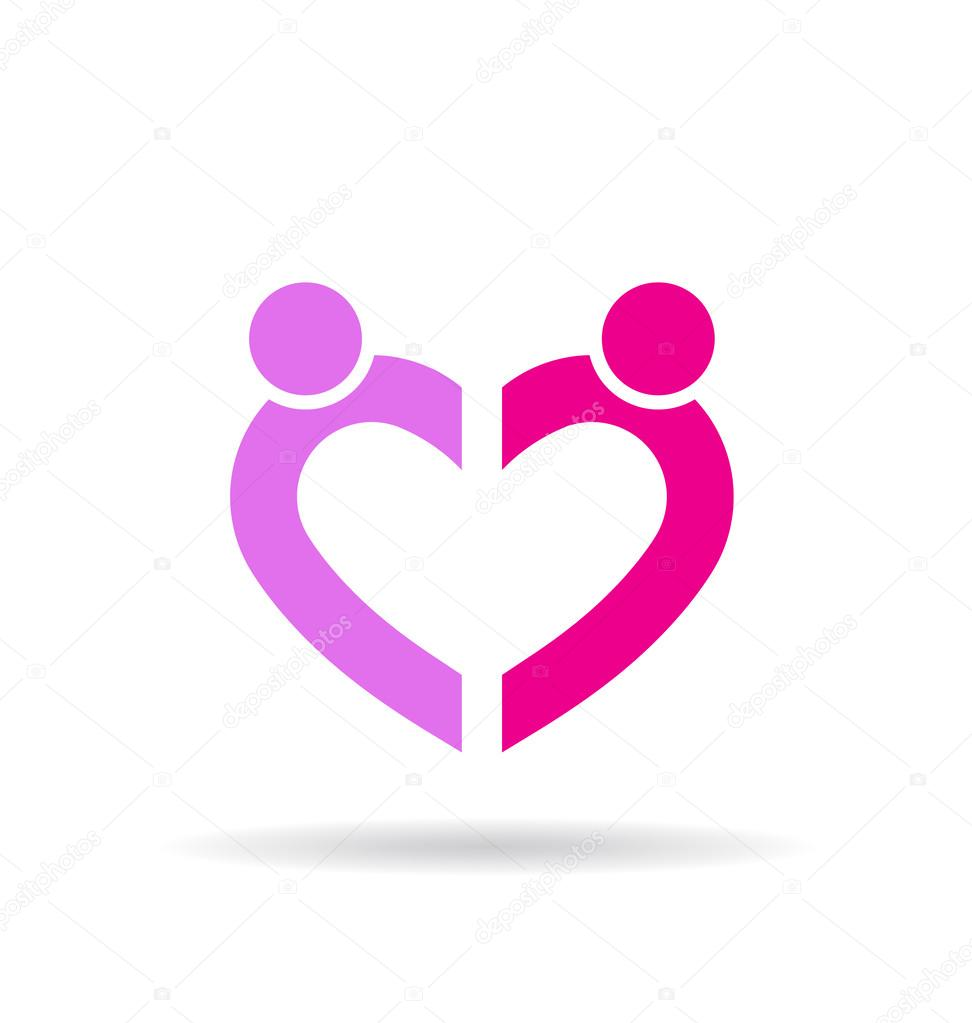 Heart shape by two persons