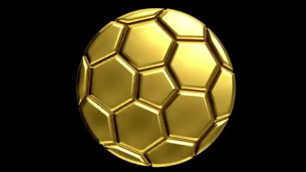goldener Fußball mit Alpha-Clip für jeden Hintergrund