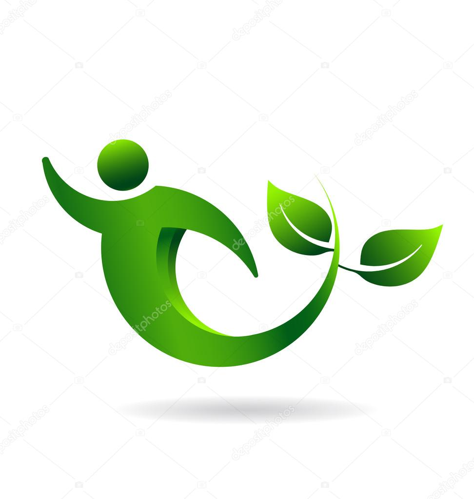 Logo Green and health people