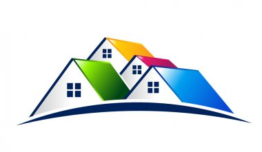 Vector Logo Group of houses