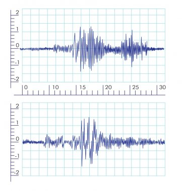 Vector Seismic Wave graphics