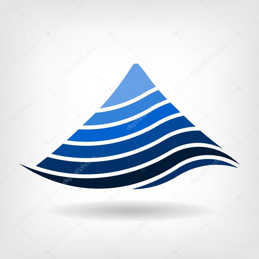 Layering mountain vector icon,Abstract concept of seismology,