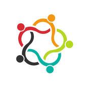 Teamarbeit-Wave 5-Logo der Menschengruppe