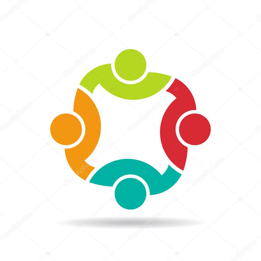 People Helping Each Other: Team 4 Congress.Concept Group Of Connected People , Happy