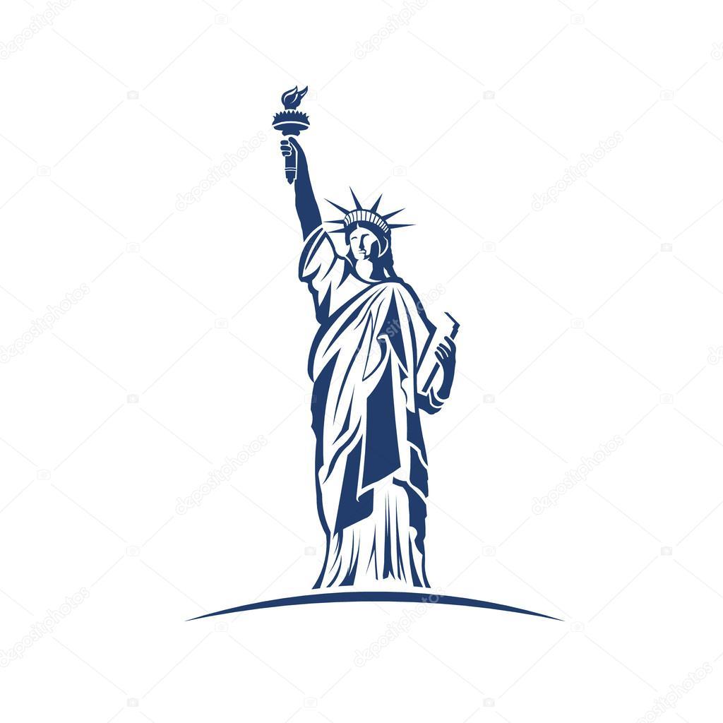 statue of liberty image logo � stock vector 169 deskcube