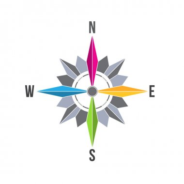 Golden Compass Rose image .Concept of navigation, traveling. location.