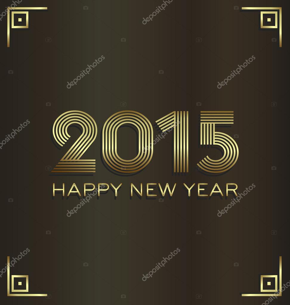 2015 Goldene Luxus frohes neues Jahr Gruß card.good Glück Stil ...